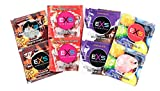 EXS Mixed Flavoured Condoms - Bubblegum, Chocolate, Strawberry & Cola - 24