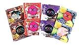 EXS Mixed Flavoured Condoms - Bubblegum, Chocolate, Strawberry & Cola