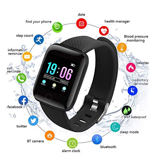 Lolobeauty Inteligente Reloj Bluetooth Deporte podómetro Sus Hijos a Dormir Monitor Impermeable SmartWatch niños Regalo del Muchacho Relojes Android