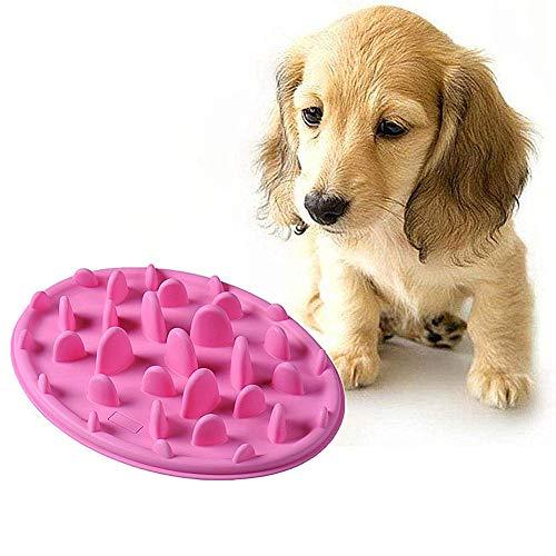 Futternapf Katze Anti Schling Napf Hunde Slow Feeder Fressnapf Welpenfutter Wet Bowl Hund Puzzle Feeder Hundenäpfe rutschfest pink