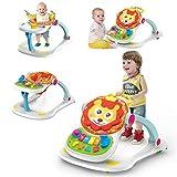 Olz Andador de Actividad para bebés, Multifuncional 4 en 1 Trolley antivuelco Andador de Juguete Educativo para bebés 6-7-18 Meses Andador de Aprendizaje para niños pequeños