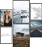 Papierschmiede® Mood-Poster Set Island | Bilder als