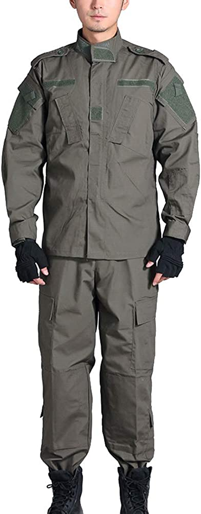 caza BDU chaqueta y pantalones tiro al aire libre uniforme de camuflaje para airsoft camuflaje combate Traje t/áctico militar para hombre paintball