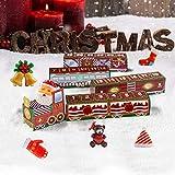 Navidad 24 días Tren de cuenta regresiva Tren de Navidad Decoración Regalo Tren de Navidad Hol