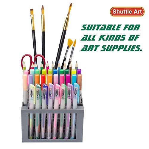 Shuttle Art 96 Hole Pens Pencils Brush Holder Desk Stand Organizer Holder for Pens, Paint Brushes, Colored Pencils, Markers