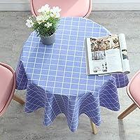 田園風テーブルクロス北欧テーブルカバーテーブルクロス四季用テーブルクロス (Color : Blue, Size : 140cm(55in))