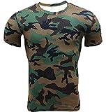 ZhuiKun T-Shirt De Compression Manches Courtes Vêtements Fitness Running Homme XL