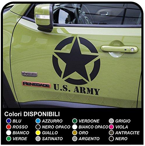 GRAFIC Porte 2 étoiles Autocollants Stickers étoiles Porte (Noir)