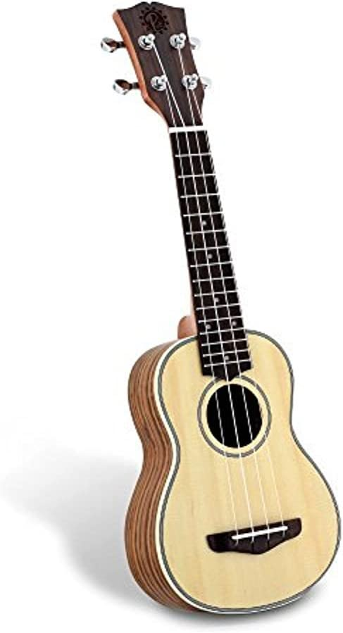 Solid Wood Spruce Soprano Excellent Ukulele Professional with S Instrument Seattle Mall
