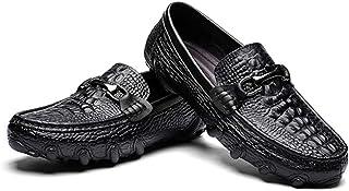 ドライビングシューズ メンズ スリッポン ローファー 大人 クロコダイル シューズ 靴 メンズ カジュアルシューズ モカシン ビンテージ 靴 大きいサイズ メンズシューズ メンズブーツ ワニ 春夏 トレンド ブラック ローファー