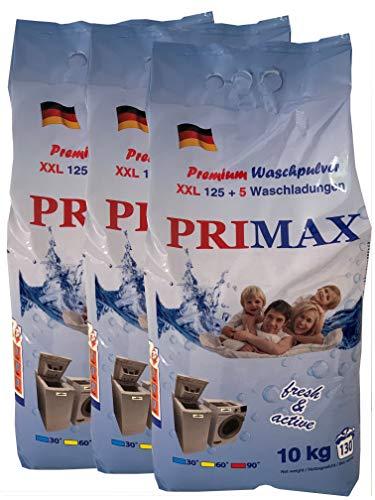 3 x 10 Kg Primax - Premium Waschpulver mit bunten Speckes