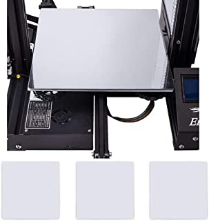 Creality 3D Printer New Upgrade Platform Polypropylene Build Plate with 3 Pieces Glossy Silver PET Sticker 235x235mm for Ender-3 Ender-3X Ender-3 Pro