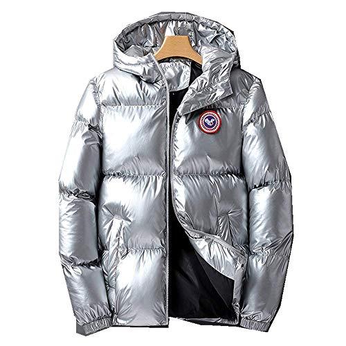 N\P Chaqueta acolchada de algodón y chaqueta con capucha para hombre