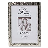 Lawrence Frames Shimmer Metal Picture Frame, 5 by 7-Inch, Silver [並行輸入品]