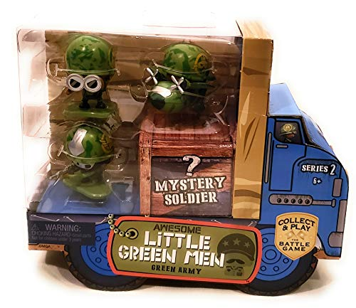 Awesome Little Green Men 4 pc Starter Pack Series 2- Green Army Action Figure
