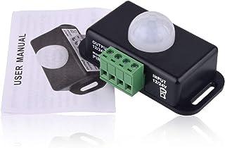 HelloCreate interruttore luce con sensore di movimento DC 12 V//24 V di sicurezza del corpo a infrarossi con sensore di movimento PIR