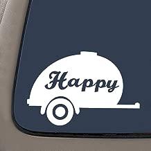 NI243 Happy Camper White VINYL 7.5