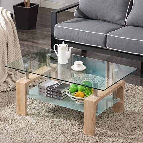 Living-Room-Rectangle-Glass-Coffee-Table-Modern-Living-Room-Table-with-Lower-Shelf-Clear-Tempered-Glass-Top-with-White-Color-Wooden-LegsLiving-Room-FurnitureWaiting-Area-Table