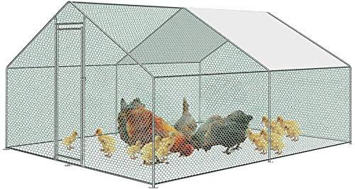 AIYOU Enclos poulailler Cage Extérieure pour Animaux...