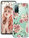 Galaxy S20 FE Hülle Kompatibel mit Samsung Galaxy S20 FE Hülle Silikon Original Transparent Marmor Blumen Muster Handyhülle Durchsichtige 360 Grad Ultra Dünn Schutzhülle Galaxy S20 FE 5G Tasche