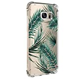 JEPER Coque Compatible avec Samsung S7 Edge TPU Souple Silicone Crystal Clear Transparent Quatre...