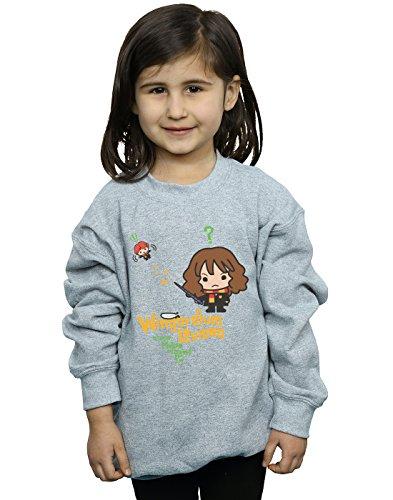 HARRY POTTER niñas Hermione Granger Wingardium Leviosa Junior Camisa De Entrenamiento 9-11 Years Gris Sport