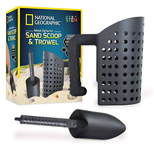 NATIONAL GEOGRAPHIC Sand Scoop Sifter and Trowel Set for Metal...
