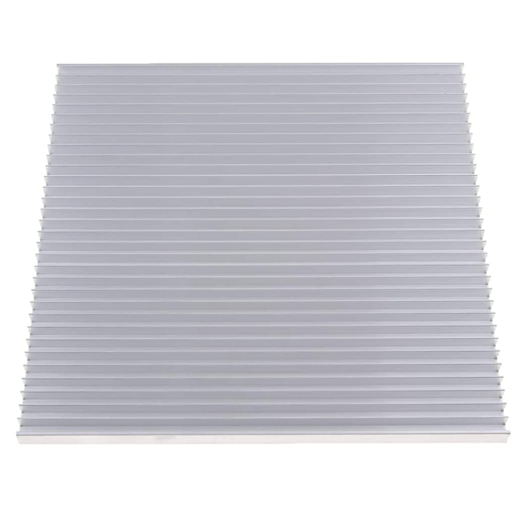 kesoto Aluminum Heat Sink Heatsink Module Cooler Fin for High Power Amplifier Transistor Semiconductor Devices, 195x10x200mm