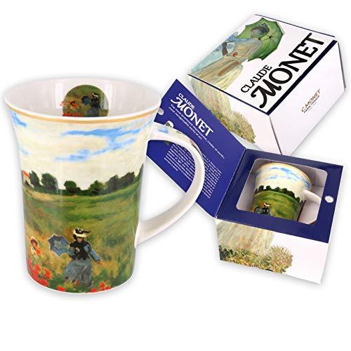 Carmani - Tazza di caffe o te in porcellana con Monet 'Papaveri' 350 ml