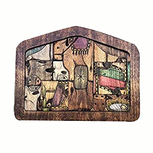 Wooden Jesus Puzzle Statue - Nativity Puzzle with Wood Burned Design Sculpture Decorations for Home Educational Wooden Puzzles for Kids Ages 3-5 and Adults by