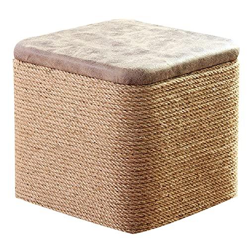 aedouqhr Reposapiés, Reposapiés tapizado de Moden Puf de Tela con tecnología Taburete bajo tapizado Taburete de Mesa de Centro Asiento Adicional - Marrón