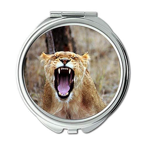 Yanteng Spiegel, Schminkspiegel, Afrika Zorn Tier, Taschenspiegel, tragbarer Spiegel