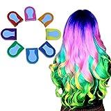 Haarkreide|8Farben Temporäre Haarfarbe, Haar Colorationen, Colorful Professional Waxy Haarfarbe Stick, Auswaschbar Haartönung, Ideal für Partys, Cosplay, Xmas