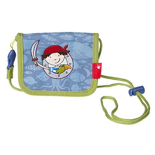 SIGIKID 24938 Brustbeutel Sammy Samoa Mädchen und Jungen Kinder-Portemonnaie empfohlen ab 3 Jahren blau/grün