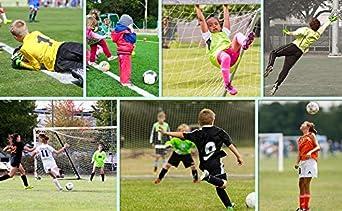 Goalie Gloves for Kids Goalkeeper Gloves Football Goalkeeping Gloves Boys Youth Adult Junior Children Strong Keeper Grip Finger Protection Prevent Injuries Embossed Back Football