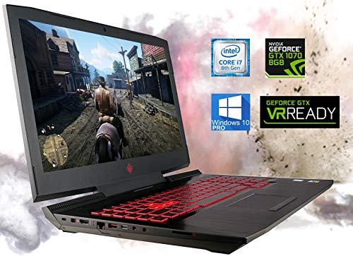 HP OMEN 17.3' Gaming Laptop, Intel i7-8750H, VR Ready NVIDIA GeForce GTX 1070 4K, 16 GB RAM, 512 GB NVMe SSD + 2 TB HDD, HDMI, Thunderbolt, Mini-DisplayPort, AC Wi-Fi, Bluetooth - Windows 10 Pro