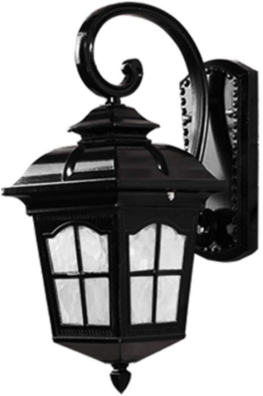 MZ Europische Retro Wall Lamp, Wasserdichte Auenhof-Lampe Garten dekorative Beleuchtung