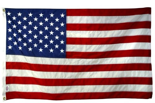 5X 8 FT US American Flag 2-ply Sewn Polyester Commercial & 6...