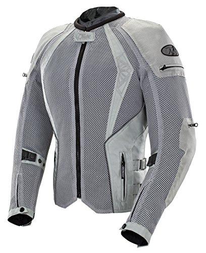 Joe Rocket - 1653-0303 Cleo Elite Women's Mesh Motorcycle Jacket (Silver, Medium)
