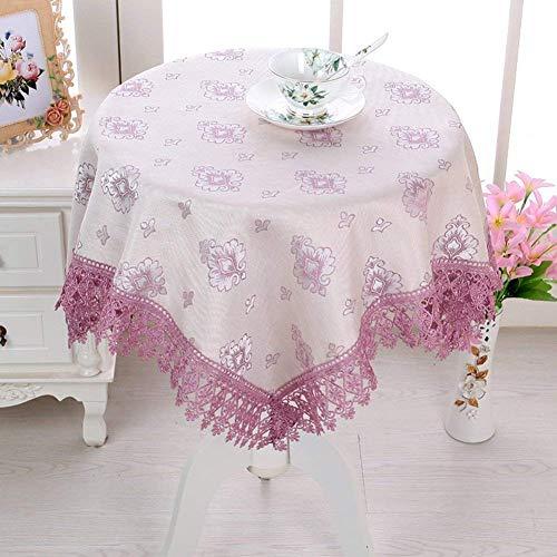 Mantel de mesa Benbroo para jardín, redondo, pequeño y floral Mantel con encaje con servilletas, grueso, rectangular