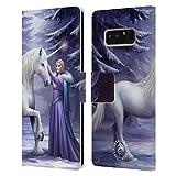 Head Case Designs Oficial Anne Stokes Magia Pura Unicornios 2 Carcasa de Cuero Tipo Libro Compatible con Samsung Galaxy Note8 / Note 8