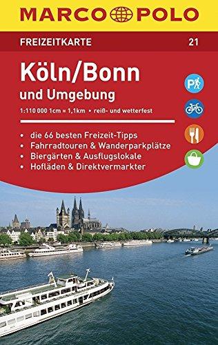 MARCO POLO Freizeitkarte Köln und Umgebung: Toeristische kaart 1:110 000