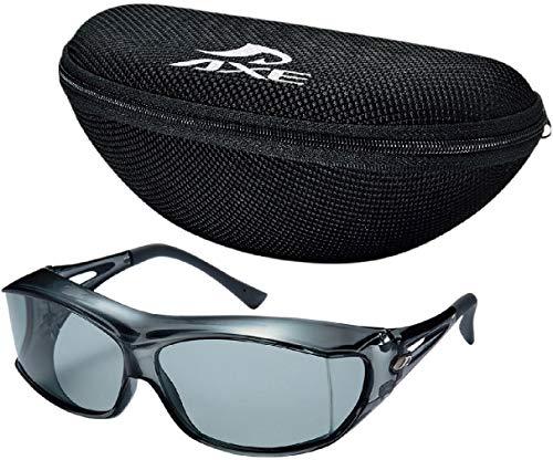 AXE アックス 偏光 オーバーグラス オーバーサングラス 眼鏡の上から SG-605P/SM(AX-26)ケースセット