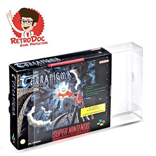 2 Klarsicht Schutzhüllen SUPER NINTENDO BIG BOX - SNES BIG BOX OVP 0,3MM - Spiele Originalverpackung Passgenau Glasklar Protectors Protector Box Case Game