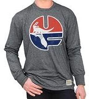 NCAA Mens Retro Long Sleeve Shirt Soft Charcoal Gray