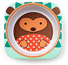 Skip Hop Baby Zoo Little Kid and Toddler Melamine Feeding Bowl, Multi Hudson Hedgehog
