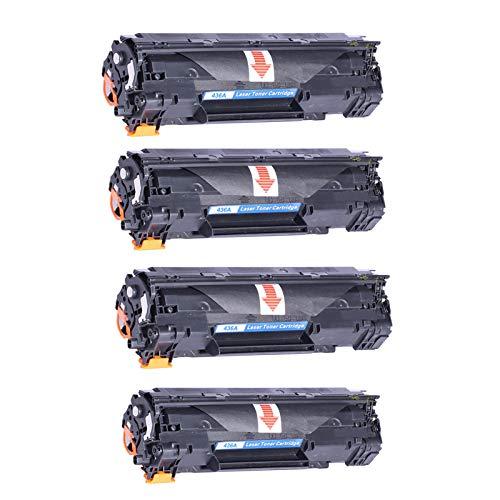 DYYPPWW CB436A Compatible Cartuchos de Tóner,Alta Produccion con Chip,para HP Laserjet P1505 P1505N M1522 M1522NF Impresora,4black