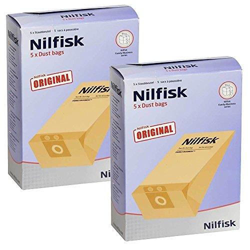 Familia de auténtica Nilfisk Vac Series Filtro de aspiradora bolsas Dual (10unidades)