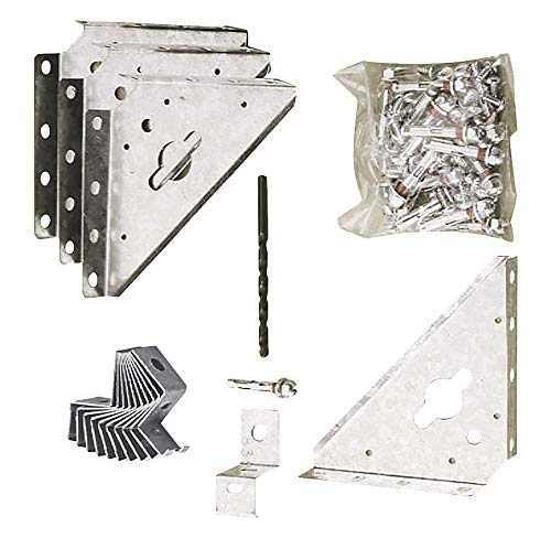 Arrow Shed Includes Clips and Shields for Storage Shed Anchoring, Metal, Оne Расk