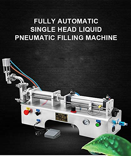 N/Z Living Equipment 50-500ML Máquina de llenado de líquidos neumática eléctrica de una Sola Cabeza Champú Gel Agua Vino Leche Máquina de llenado de Bebidas, 220v